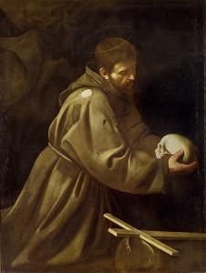Caravaggio San Francesco che medita (1605)
